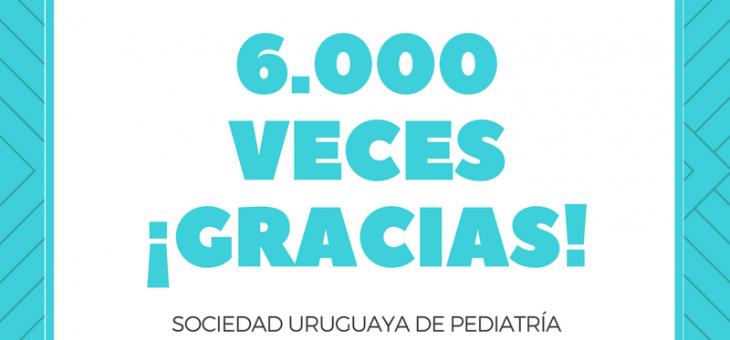 6000 veces Gracias