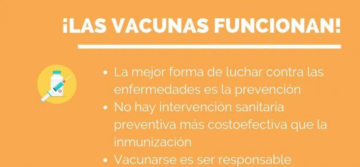 ¡Las vacunas funcionan!  Guía breve para alejar dudas y derribar mitos