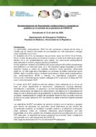 Recomendaciones de Resucitación cardíaca básica y avanzada en pediatría en el contexto de la pandemia de COVID-19 1.0
